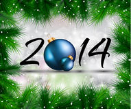 2014 Christmas and New Year Colorful Background Stock Photography