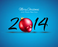 2014 Christmas and New Year Colorful Background Royalty Free Stock Images