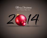 2014 Christmas and New Year Colorful Background Stock Images