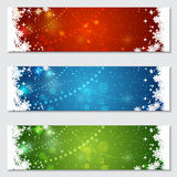 Christmas and New Year colorful vector banners. Collection Stock Photos
