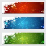 Christmas and New Year colorful vector banners. Collection Stock Photography