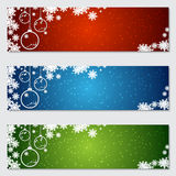 Christmas and New Year colorful vector banners. Collection Royalty Free Stock Photography