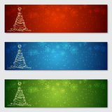 Christmas and New Year colorful vector banners. Collection Royalty Free Stock Photo