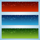 Christmas and New Year colorful vector banners. Collection Royalty Free Stock Images
