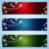 Christmas and New Year colorful vector banners collection. Merry Christmas and Happy New Year vector banners design collection. Abstract colorful backgrounds stock illustration
