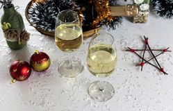 Christmas and New Year composition royalty free stock image