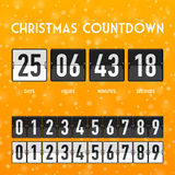 Christmas or New Year countdown timer Royalty Free Stock Images