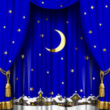Christmas and New Year curtain Royalty Free Stock Photos