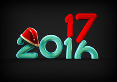Christmas new year. 3D render image representing a happy new year Royalty Free Stock Photo