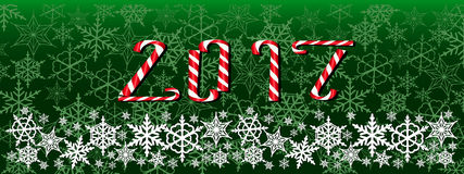 Christmas and new year dark green web banner Royalty Free Stock Photos