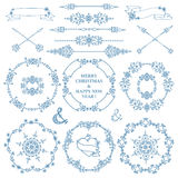 Christmas,New year decor set.Winter frames wreath Royalty Free Stock Photo