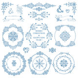 Christmas,New year decor set.Winter.Wreath frames Royalty Free Stock Photos