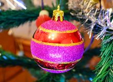 Christmas New Year decoratio. Image decorations on the Christmas tree Royalty Free Stock Photography