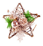 Christmas or New Year decoration. Over white Stock Images