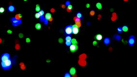 Christmas and new year decoration. Abstract. Blurred bokeh blinking garland. Holiday background Christmas tree lights twinkling stock footage