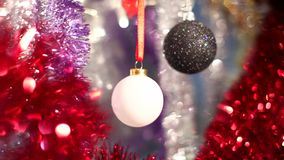Christmas and New Year Decoration. Abstract Blurred Bokeh Holiday Background. stock video