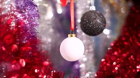 Christmas and New Year Decoration. Abstract Blurred Bokeh Holiday Background. stock video footage