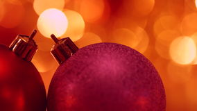 Christmas and New Year Decoration. Abstract Blurred Bokeh Holiday Background. Christmas Tree Lights Twinkling. Glowing Background. stock video footage