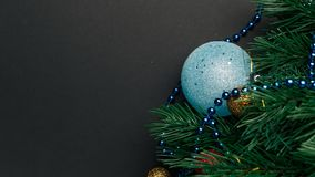 Christmas or New Year decoration background stock image
