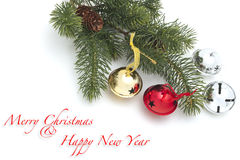 Christmas and New Year decoration background Royalty Free Stock Images