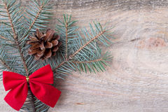 Christmas or New Year decoration background fir-tree branches Royalty Free Stock Image