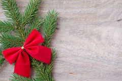 Christmas or New Year decoration background fir-tree branches Stock Photos