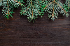 Christmas or New Year decoration background fur-tree branches Royalty Free Stock Photo
