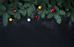 Christmas or New Year decoration background: fur Stock Photo