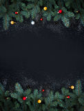Christmas or New Year decoration background: fur Stock Photography