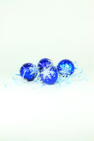 Christmas and New Year decoration in blue. Royalty Free Stock Image