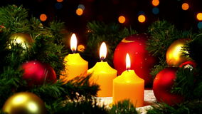 Christmas and New Year decoration stock footage
