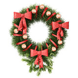 Christmas and New Year decoration, clipping path included. Royalty Free Stock Photo