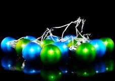 Christmas and New Year decoration-coloured balls. Royalty Free Stock Photography
