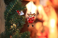 Christmas and New Year decoration decorative toy in retro style Royalty Free Stock Photography
