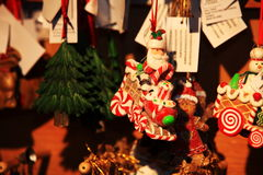 Christmas and New Year decoration decorative  toy in retro style Royalty Free Stock Photos