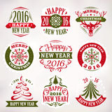 Christmas and New Year decoration elements and labels Royalty Free Stock Photos