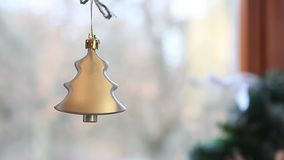 Christmas New Year decoration by the fireplace stock footage