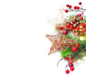 Christmas and New Year Decoration isolated on white Stock Image