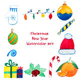 Christmas and New Year decoration and mood set Royalty Free Stock Images