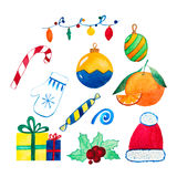 Christmas and New Year decoration and mood set Royalty Free Stock Photo