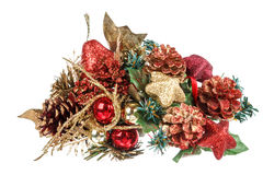 Christmas and New year decoration with ornaments Royalty Free Stock Image