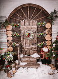 Christmas and New Year Decoration Over Wooden Background vintage Royalty Free Stock Photography