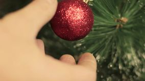 Christmas and New Year decoration. preparation for the holiday. stock video
