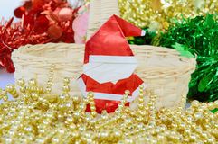 Christmas and new year decoration, santa claus paper. The christmas and new year decoration, santa claus paper, focused on santa claus Stock Photography