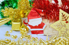 Christmas and new year decoration, santa claus paper. The christmas and new year decoration, santa claus paper, focused on santa claus Royalty Free Stock Images