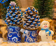 Christmas and New Year decoration small snowman Stock Image