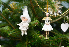 Christmas. New Year decoration.Smalls angels stock photography