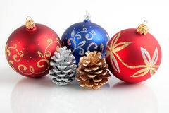 Christmas/New Year decorations. Still Life of Christmas/New Year decorations stock images