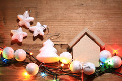 Christmas and New Year decorations. Decorations for Christmas and New Year Stock Photos