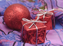 Christmas and New Year. Christmas decorations on abstract background Royalty Free Stock Photos